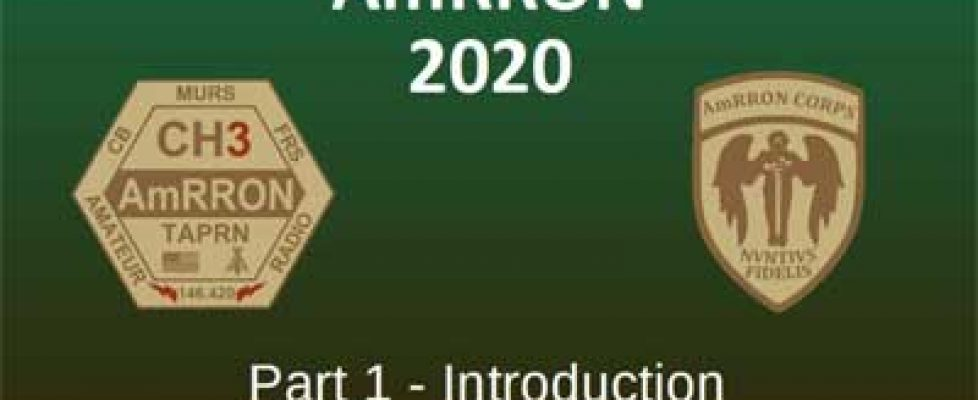 AmRRon 2020 Video series